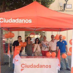 Carpa ciudadana para seguir dando a conocer el proyecto de Ciudadanos Cs Albacete