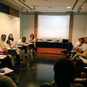 Arturo Gotor asiste a la reunión sobre la regeneración urbana convocada por el Colegio de Arquitectos