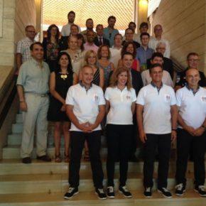 Cs Albacete asiste a la recepción de los participantes en los Juegos Mundiales de Policías y Bomberos