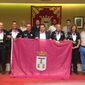 Carmen Picazo asiste a la recepción de los participantes en los Juegos Mundiales de Policías y Bomberos