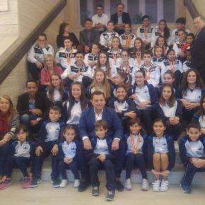 Picazo felicita a los medallistas del Club Trampolín de Albacete y Aerotramp de Aguas Nuevas