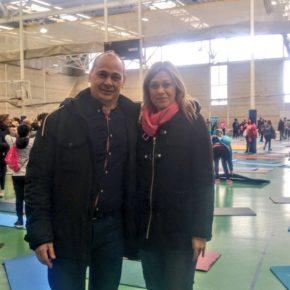 Picazo celebra el éxito del Pilates Solidario de Afanion