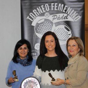 Rubio asiste a la entrega de premios del I Torneo Femenino de Padel
