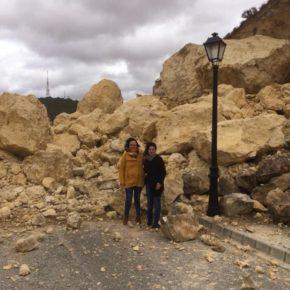 Rubio se desplaza hasta el lugar en el que esta semana se propujo un desprendimiento de roca