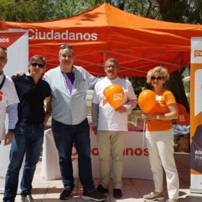 """Fina Albertos: """"Ciudadanos seguirá instalando carpas en Caudete con el objeto de recoger las demandas de sus vecinos"""""""