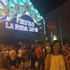 Francis Rubio, portavoz de Ciudadanos (Cs) Albacete en la Diputación, visita las fiestas de La Roda