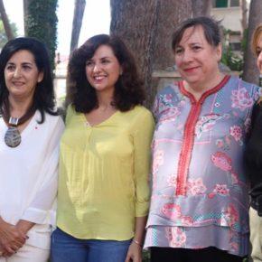 La portavoz de Ciudadanos Castilla-La Mancha, Orlena de Miguel, visita la Feria de Hellín